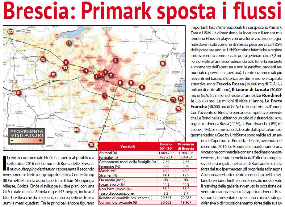 Brescia: Primark moves the flows