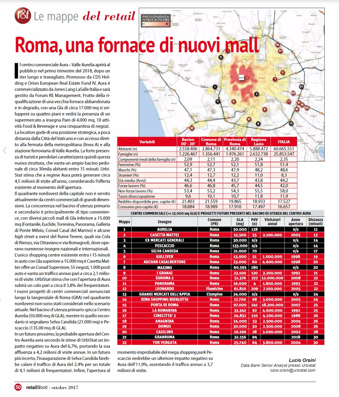 Roma, new malls (in italian)