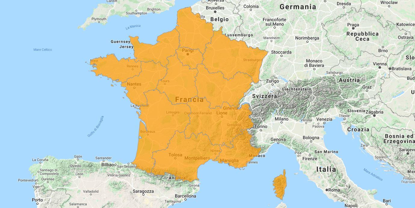 Aggiornamento uGeo Francia