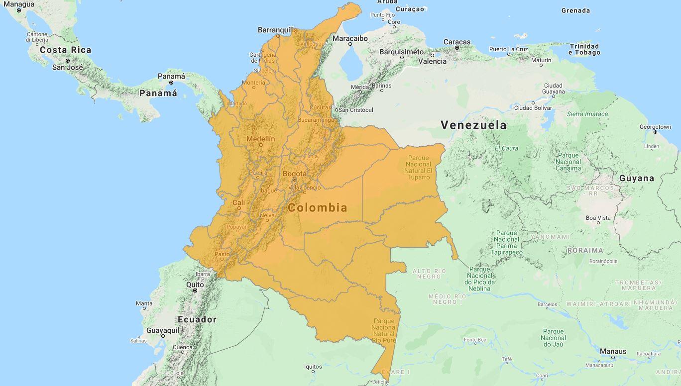 Aggiornamento uGeo Colombia