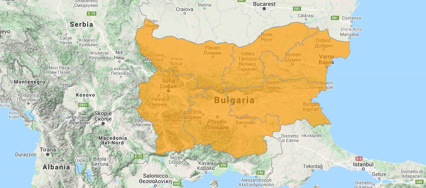 Aggiornamento uGeo Bulgaria