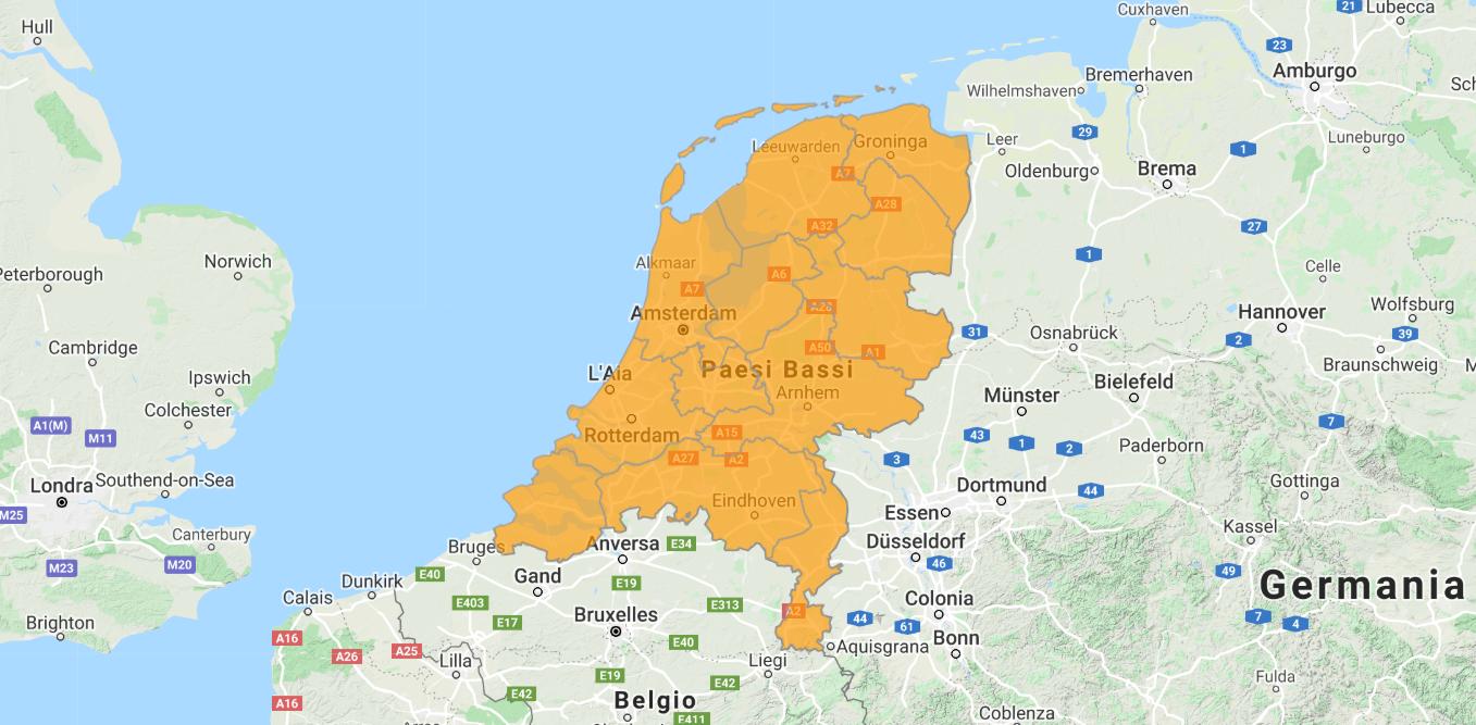 Aggiornamento uGeo Paesi Bassi