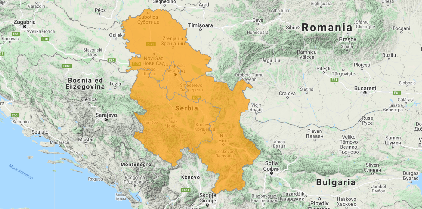 Aggiornamento uGeo Serbia