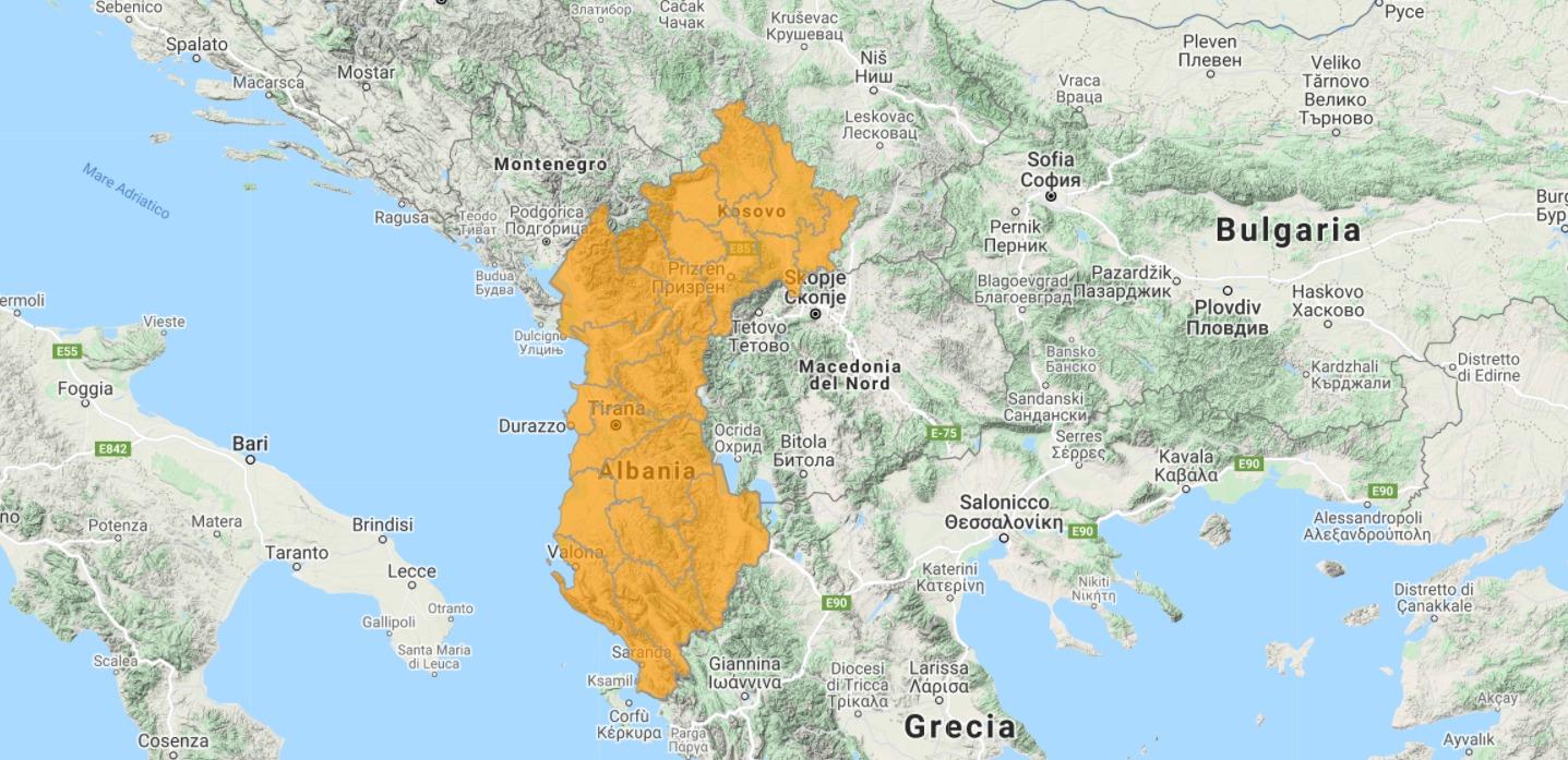 Aggiornamento uGeo Albania e Kosovo